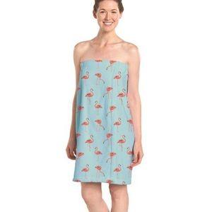 R+R Cotton Flamingo Towel Wrap